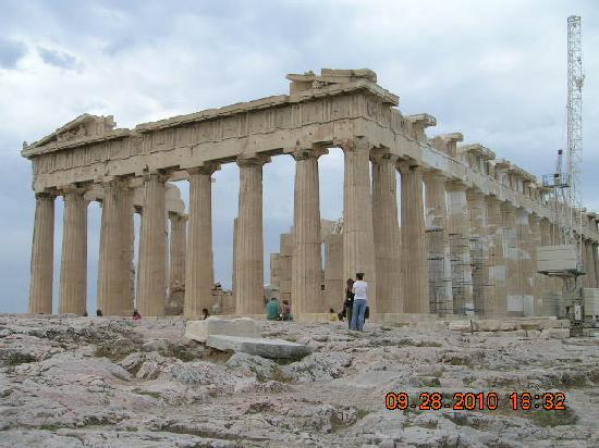 Achilleas Hotel: The Parthenon on the sacred rock