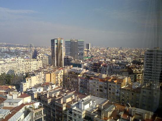 Melia Barcelona Sarria: vistas habitación planta 19