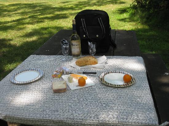 By the Side of the Road Inn & Cottages: Our picnic lunch!