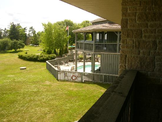 Kawartha Lakes, Canada: View of the pool