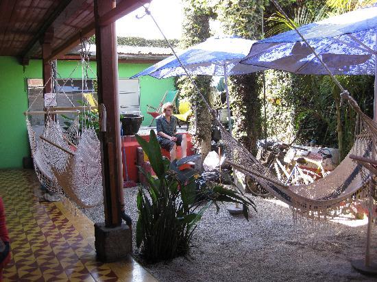 Jungle Party Hostal Club & Restaurant : back common area