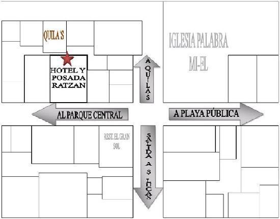 Hotel y Posada Ratzan: Croquis (mapa)