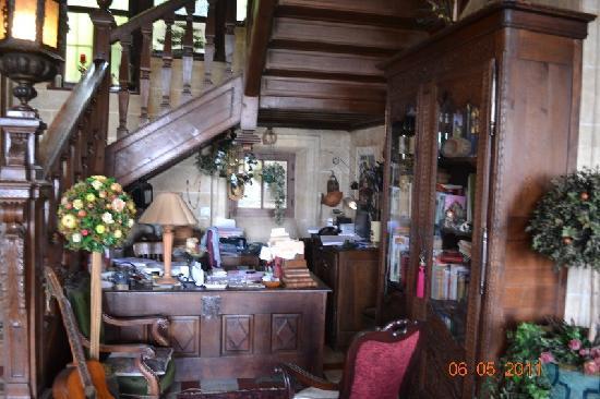 Chateau Les Hauts de la Baie du Mont Saint Michel: Madame Leroy's workplace