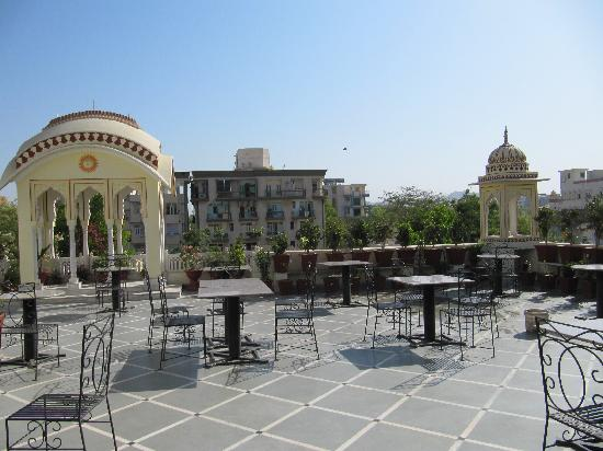 Krishna Palace: The rooftop terrace with restaurant