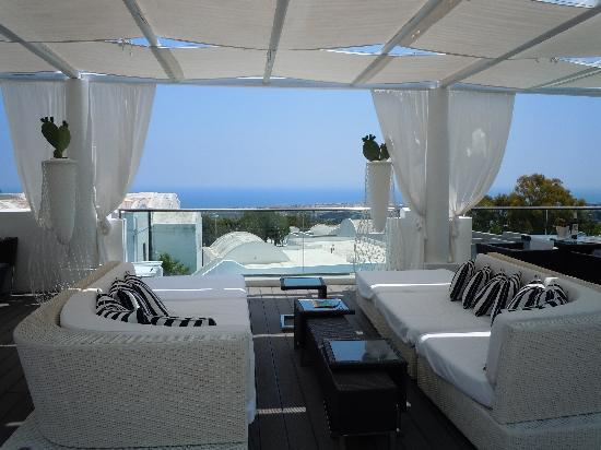 Aressana Spa Hotel and Suites : terrace