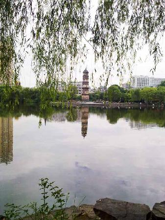 Park near Yiwu Kingdom Hotel
