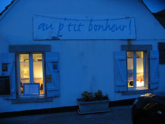 Au P'tit Bonheur : façade restaurant