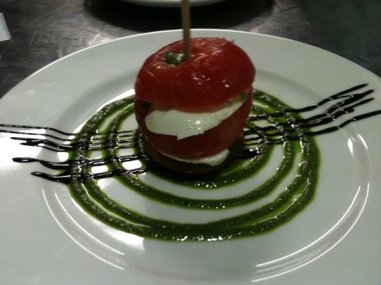 Restaurant L'insensé : tomate mozza
