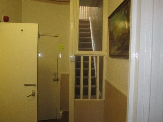 Mayfair Group Holiday Apartments: In apartment 2, this is the view from the bedroom and the stairs you can see are the stairs upto