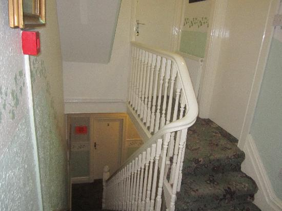 Mayfair Group Holiday Apartments: This is the door of Apartment 2 and the stairs leading down to apartments 3 and 4.