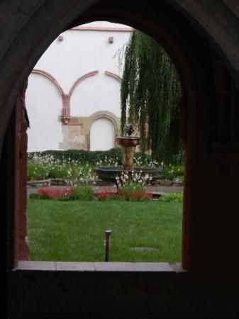 Kloster Eberbach: Ausblick vom Wandelgang
