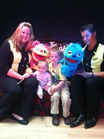 Tattershall Lakes Country Park: Liam and rebecca with scratch and Lucy not forgetting the puppet masters Danny and Sarah