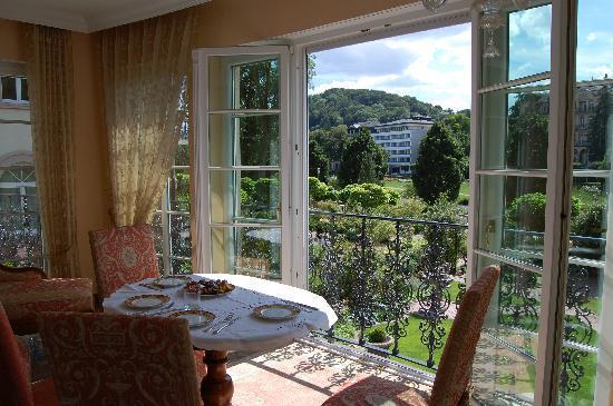 Hotel Residenz am Rosengarten & Villa Residenz : Blick von Wohnung 1. Stock in den Garten