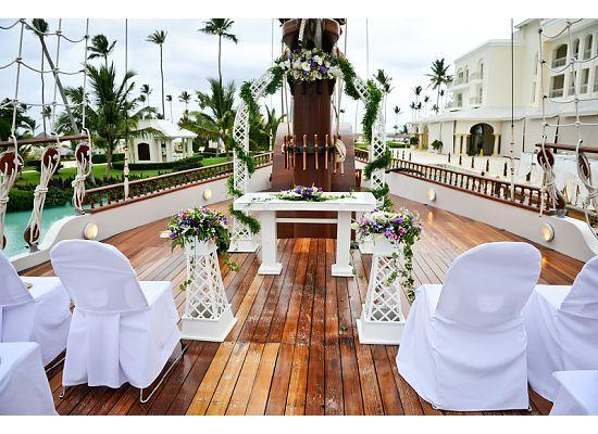 Iberostar Grand Hotel Bavaro: Our wedding ceremony on the ship...