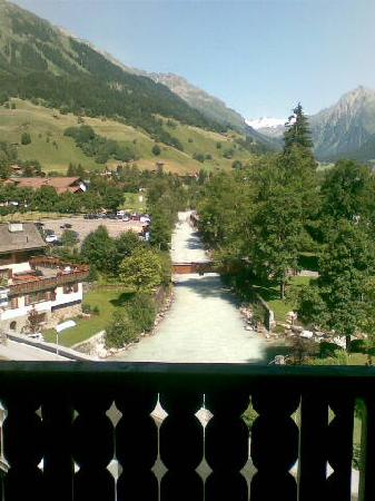 Silvretta Parkhotel Klosters: From the balcony of Room 509