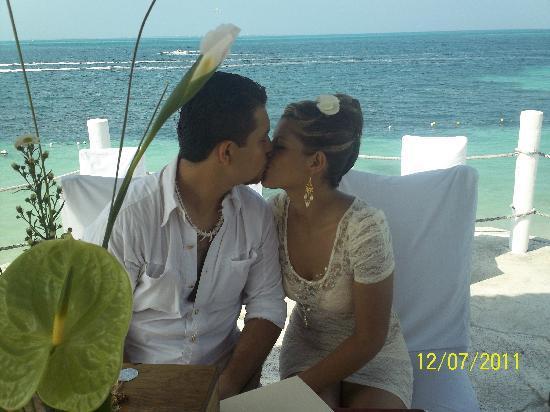 Hotel Dos Playas Beach House: aqui fue mi boda excelente escenario armaron