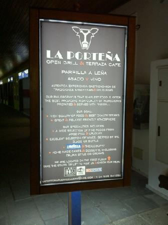 the La portena ad