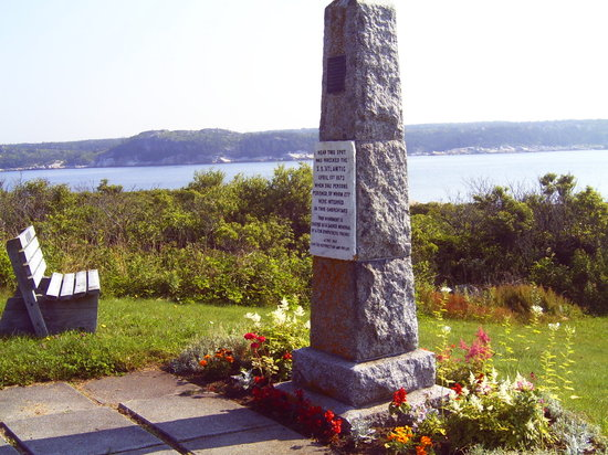 Terence Bay, Canada: The SS Atlantic Memorial Monument erected by the Ismay Family, owners of the White Star Line