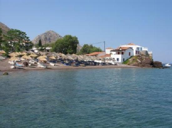 Peloponeso, Grecia: Isola di Hydra: Spiaggia di Mandraki