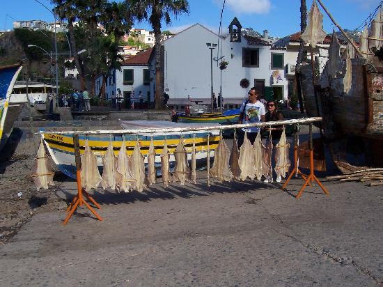 Madeira Happy Tours - Day Excursions: Fish put out to dry at our first stop on the tour