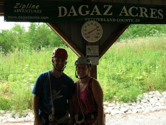 Dagaz Acres Zipline Adventures : Just before our Dagaz Acres Zipline Adventure began