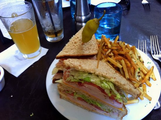 Market Creations Cafe : One of the club sandwiches ever!