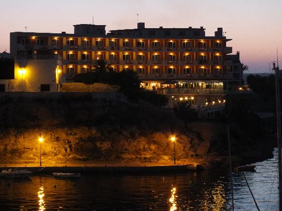 Artiem Carlos - Adults Only: Hotel at night from just across the harbour.