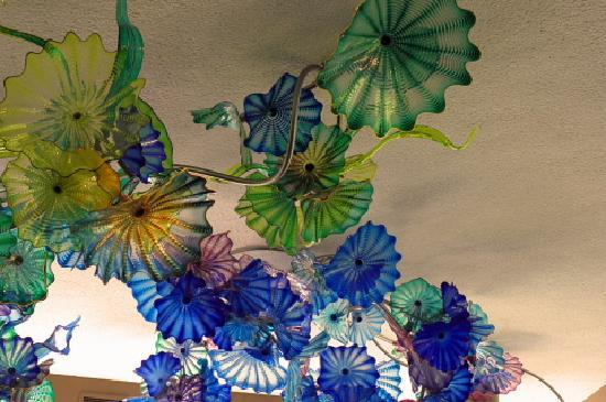 Grand Rapids, MI: Chihuly ceiling in garden cafe