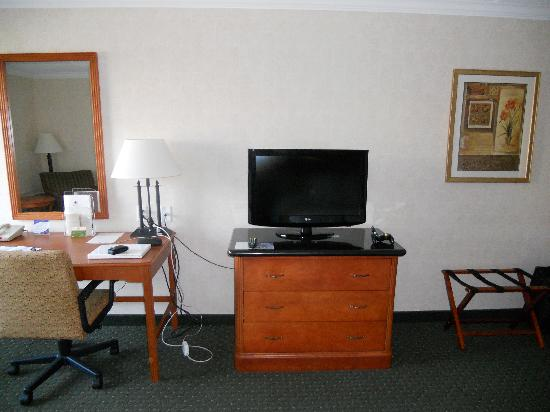 DoubleTree by Hilton Hotel Madison: Desk and TV