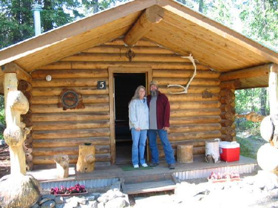 Carlo Creek Lodge: Us At Cabin #5