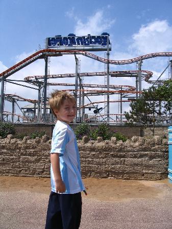 Butlins: Roller coaster in skegness town
