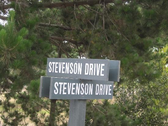 Blazing Saddles Bike Rentals & Tours: Not exactly helpful signage near Pebble Beach