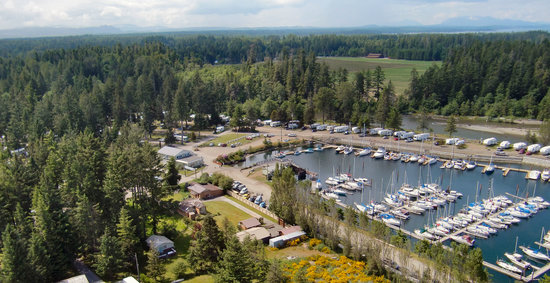 Pacific Playgrounds International RV Park, Cottages, Marina: Aerial View 2011