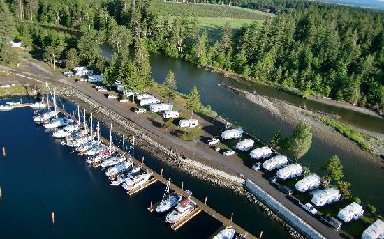 Pacific Playgrounds International RV Park, Cottages, Marina: View Point