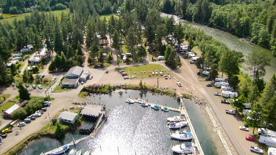 Pacific Playgrounds International RV Park, Cottages, Marina: View West