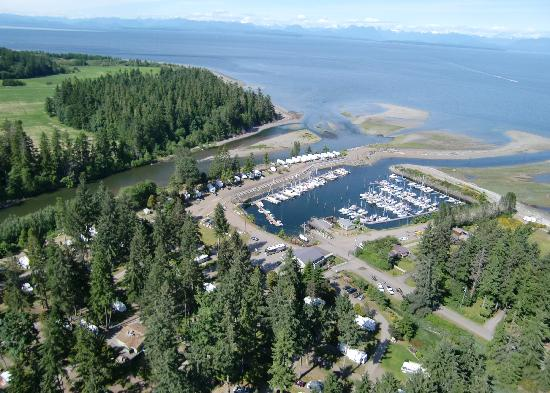 Pacific Playgrounds International RV Park, Cottages, Marina: View East