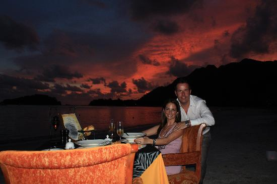 The Danna Langkawi, Malaysia: dinner on the beach