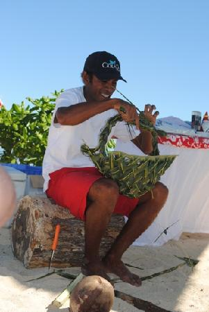 Denarau Island, Fidschi: nice basket Paul!