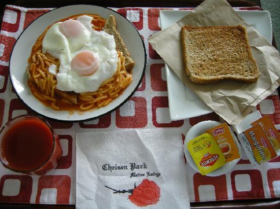 تشيلسي بارك موتور لودج: Breakfast -- you have several options.