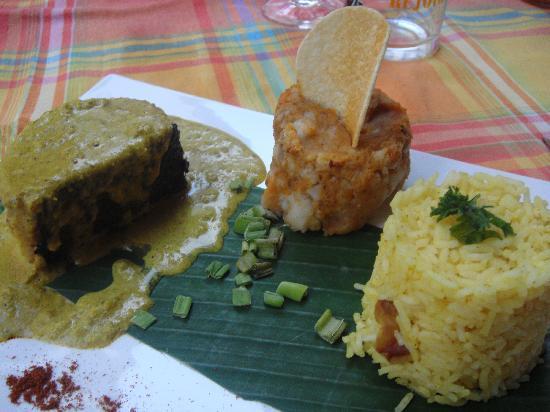 L'Escale des Saveurs : pavé de mahi-mahi et émulsion au curry et noix de coco