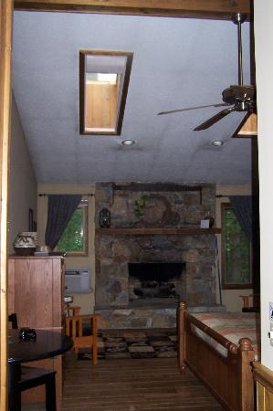 Cashiers, Carolina del Norte: Gas Fireplace in Large Room