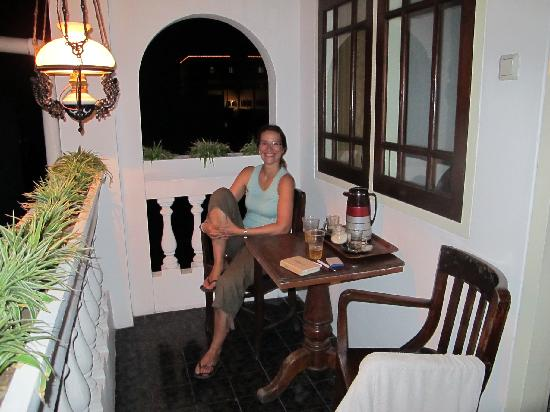 Bladok Losmen: veranda of superior room