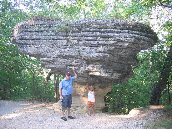 Pivot Rock and Natural Bridge: Pivot Rock