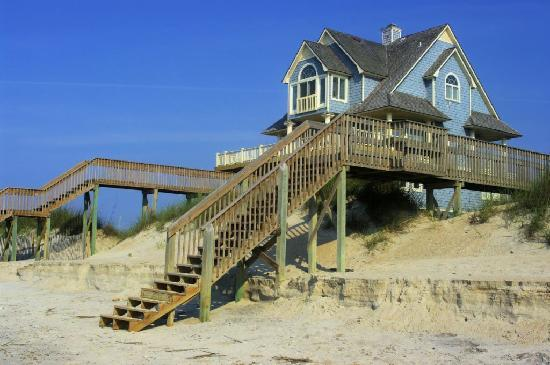 Surf City, NC: North Topsail Beach dune house