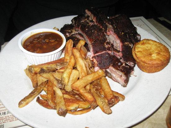 Virgil's Real Barbecue: pork ribs