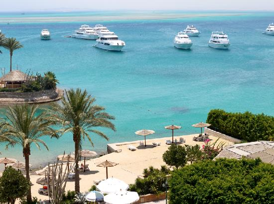 Hurghada Marriott Beach Resort: The view from our balcony