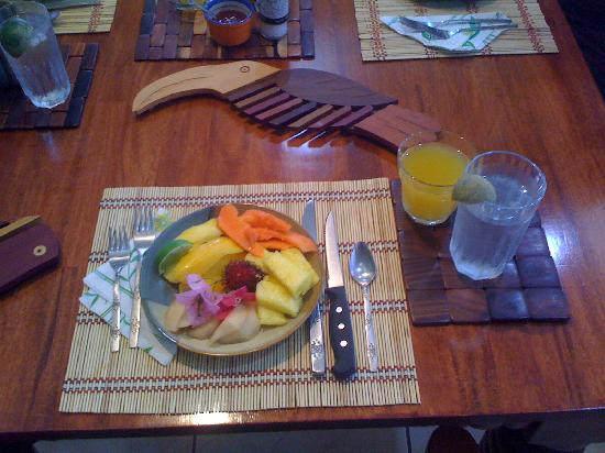 Casa Naranja: Parte del desayuno