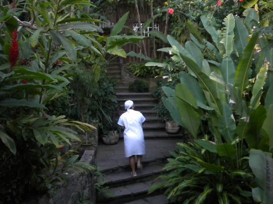 Pousada Vila Do Mar: camino a las habitaciones