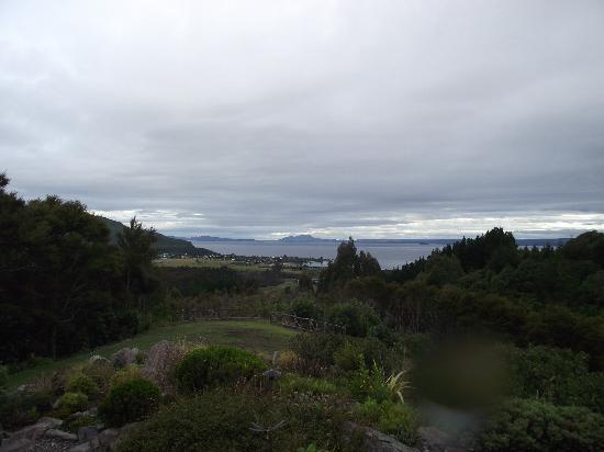 Omori Lake House : Blick von der Terrasse