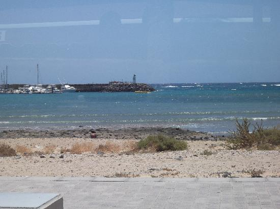 Beach Cafe: view across to the harbour